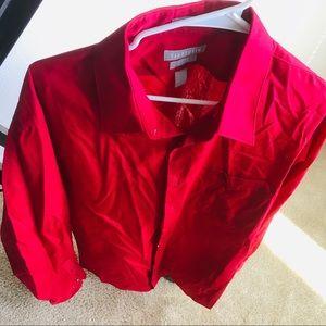 Van Heusen Fitted Button Down Shirt 17 1/2 36/37